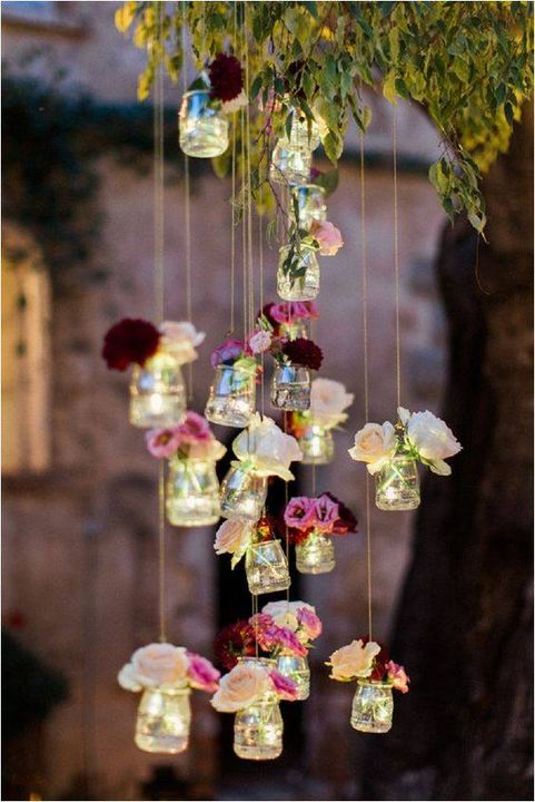Such a beautiful real #flower decoration idea for your #garden.