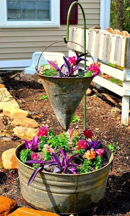 Vintage Container #Gardening <3