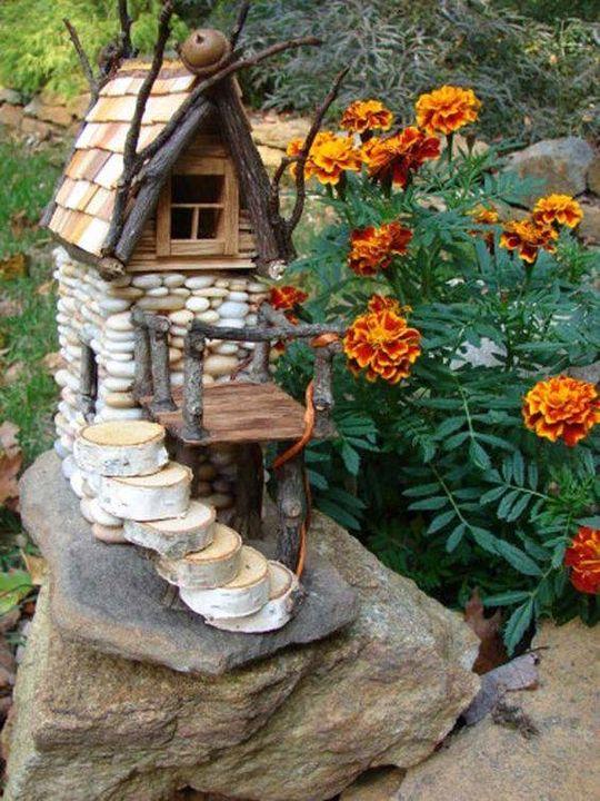 A Beautiful mini stone house to beautify your #garden.