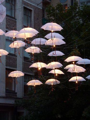 Floating Umbrellas Monsoon #Garden design