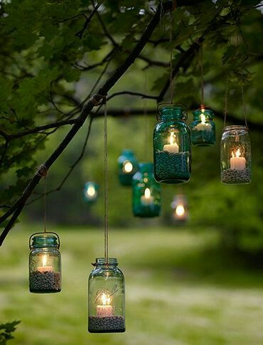 Fantastic #gardendecoration idea for #newyear evening party.