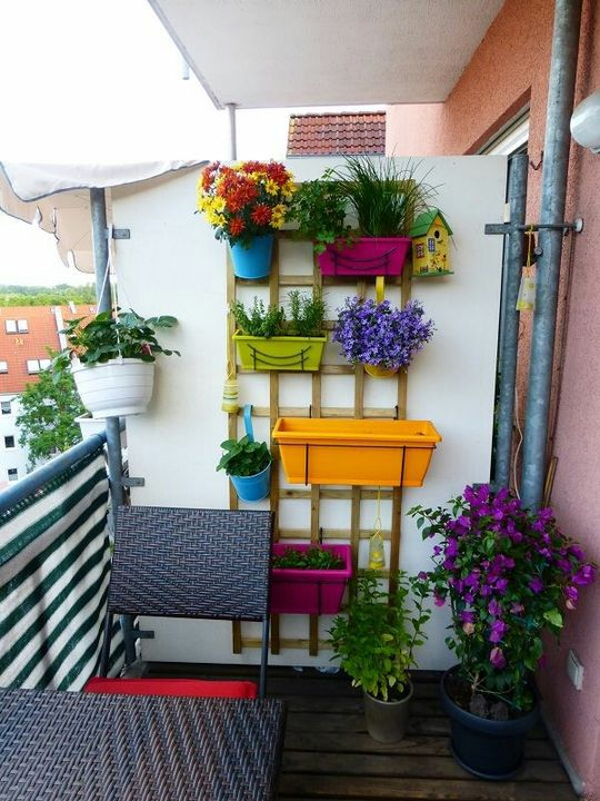 Vertical Balcony #Garden Idea