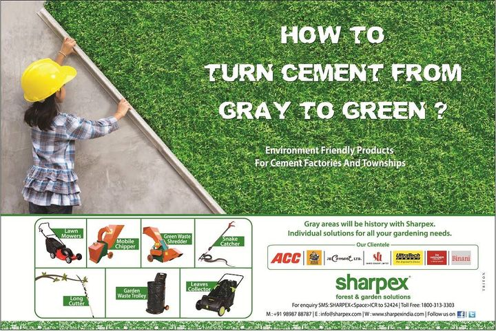Cement companies going green with Sharpex Tools. wondering How? visit http://www.sharpexindia.com/product-category/gardening/