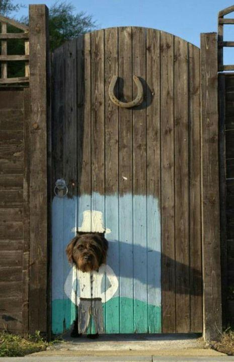 Artistic gate for #garden