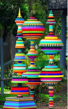 So nice colorful #garden sculpture