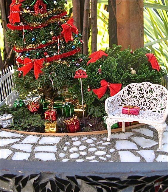 Mini #Christmas garden. Looks adorable!!