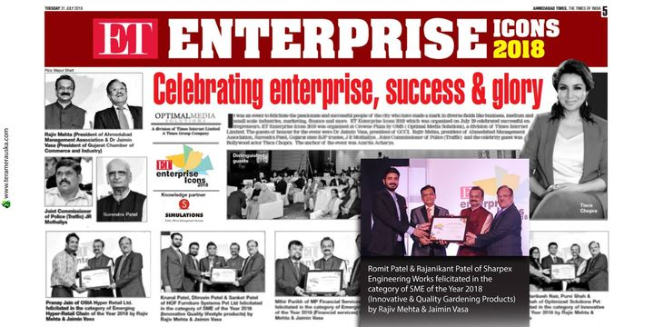 ET Enterprise Icons 2018 Celebrating enterprise, success & glory #gardening #sharpexindia #sharpex #gardeningproducts The Economic Times The Times of India