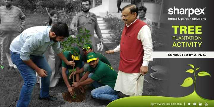 Tree Plantation Activity Connected by A.M.C. https://sharpexindia.com/ #gardening #sharpexindia #sharpex #gardeningproducts #garden #tree #plant
