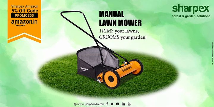 Trims your lawns, Grooms your garden!  https://amzn.to/2M58xSd https://bit.ly/2vjJ0LC https://sharpexindia.com/  #gardening #sharpexindia #sharpex #gardeningproducts #garden #plant #manuallawnmower #grass #sturdyhandles