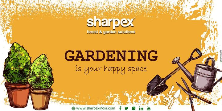 Gardening is your happy space  Largest manufacturer of eco-friendly gardening tools  https://sharpexindia.com/  #Lawncare #Simplygardenspares #Selfpropelledlawnmower #gardenstorage #Growwithgarden #Lawnmowerrepairs