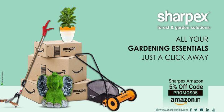All your gardening essentials just a click away.  https://sharpexindia.com/  #Lawncare #Simplygardenspares #Selfpropelledlawnmower #gardenstorage #Growwithgarden #Lawnmowerrepairs