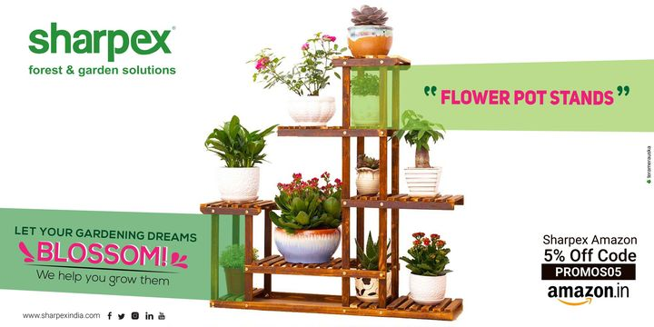 Let your gardening dreams blossom!  https://amzn.to/2NaoGTf https://bit.ly/2xImBsI https://sharpexindia.com/  #Lawncare #Simplygardenspares #Selfpropelledlawnmower #gardenstorage #Growwithgarden #Lawnmowerrepairs #flower #FlowerPot #FlowerPotStands