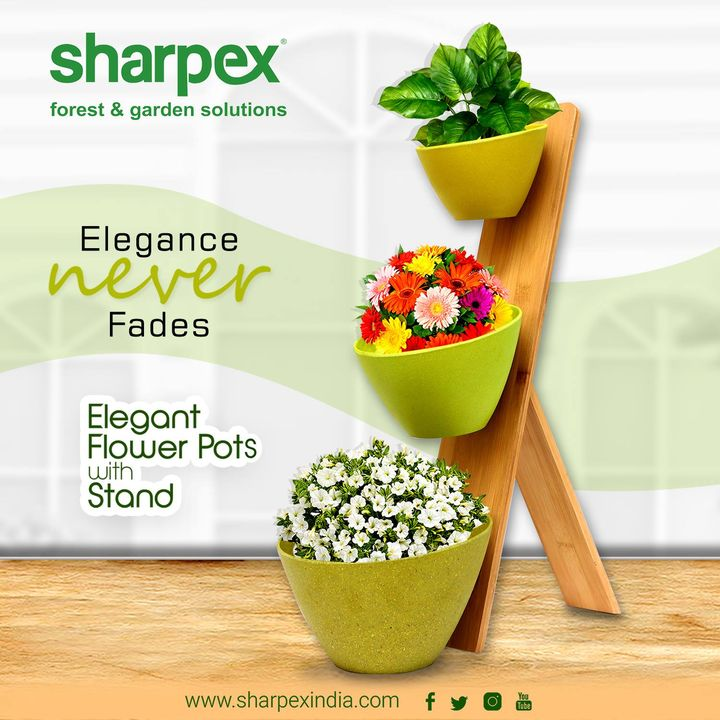 Elegant flower pots with stand  https://sharpexindia.com/  #gardening #gardeningproducts #flower #Secateur #gardenproduct #gardenpot #happy #plantershelfstand #flowerpots  Ahmedabad, India Gandhinagar, Gujarat Vadodara, Gujarat, India Gujarat