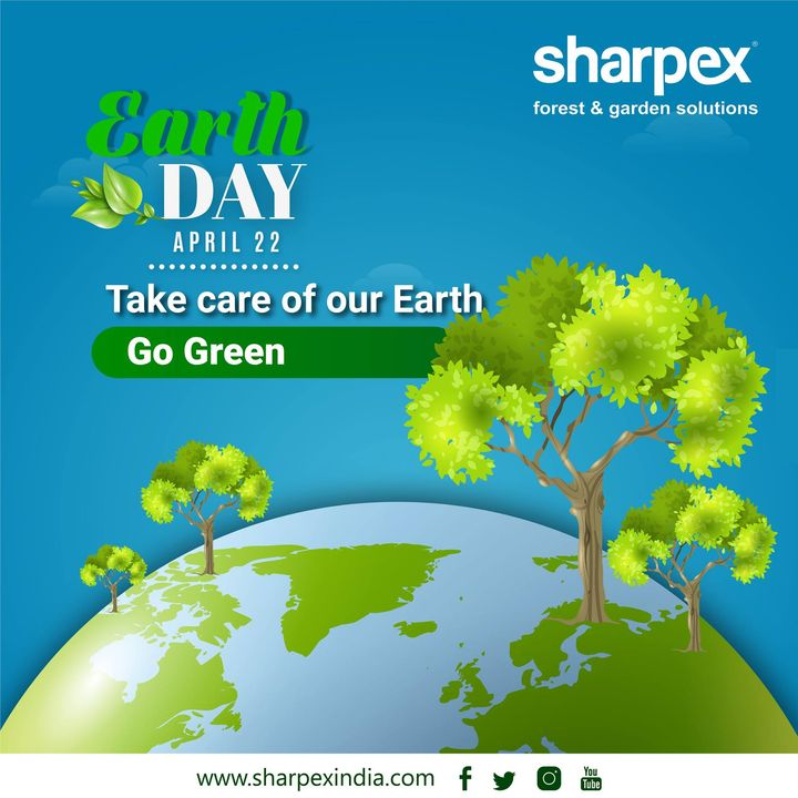 #EarthDay2019 Take care of our #earth #ProtectOurSpecies #EarthDay #EarthDayNetwork #Trees4Earth #EarthDayEveryDay #theGreatGlonalCleanup #GreatGlobalCleanup #EndPlasticPollution  https://sharpexindia.com/  ONEarth earthday365 India EarthDay