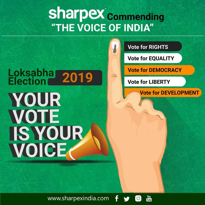 Sharpex Engineering,  LokSabhaElection2019, vote, LokSabhaElections, Elections2019, India2019, Parliament2019, 2019Elections, VoteForIndia, vote2019, loksabha, election2019, 2019LokSabha, GoVote, GeneralElections2019
