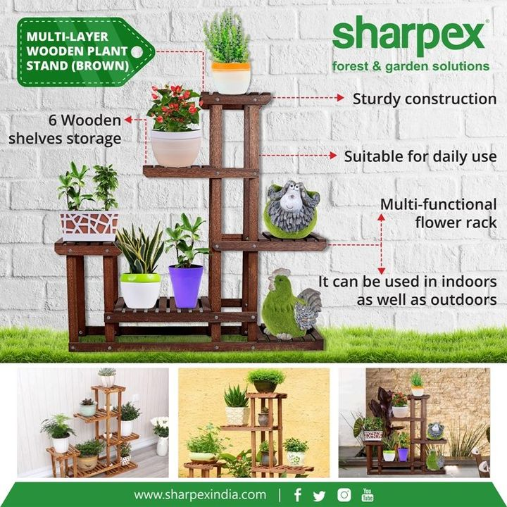 Multi-Layer Wooden Plant Stand (Brown) Order Online, https://www.amazon.in/Sharpex-Wooden-Frame-Garden-Planter-Flower/dp/B07BQPFVJ9  https://sharpexindia.com/home/multi-shelf-wooden-frame-garden-planter https://sharpexindia.com/gardening  #gardeningproducts #gardenproduct #gardenpot #plantershelfstand #flowerpots #plant #flower #hosenozzle #lawnmower #manuallawnmower #quickdrip #wallmounthosehanger  Ahmedabad-gujrat Surat, Gujarat Vadodara, Gujarat, India Gandhinagar, Gujarat Mumbai, Maharashtra Chennai, India Pune, Maharashtra
