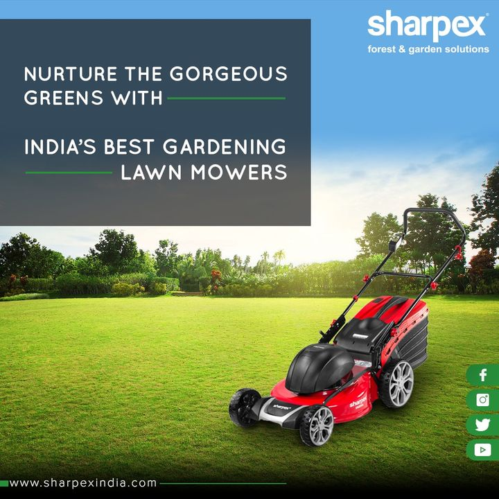 Maintain & nourish the gorgeous greens with India's best gardening lawn mowers!   #GardeningTools #ModernGardeningTools #GardeningProducts #GardenProduct #Sharpex #SharpexIndia