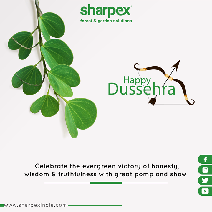 Celebrate the evergreen victory of honesty, wisdom & truthfulness with great pomp and show  #HappyDussehra #Dussehra #Dussehra2019 #Vijayadashami #Festival #GardeningTools #ModernGardeningTools #GardeningProducts #GardenProduct #Sharpex #SharpexIndia