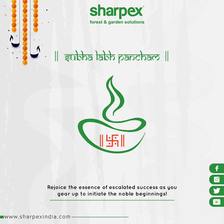 Rejoice the essence of escalated success as you gear up to initiate the noble beginnings!  #HappyLabhPancham #ShubhLabhPancham #LabhPancham2019 #LabhPancham #Celebration #FestiveSeason #IndianFestivals #Diwali2019 #SharpexIndia #GardeningTools #ModernGardeningTools #GardeningProducts #GardenProduct #Sharpex