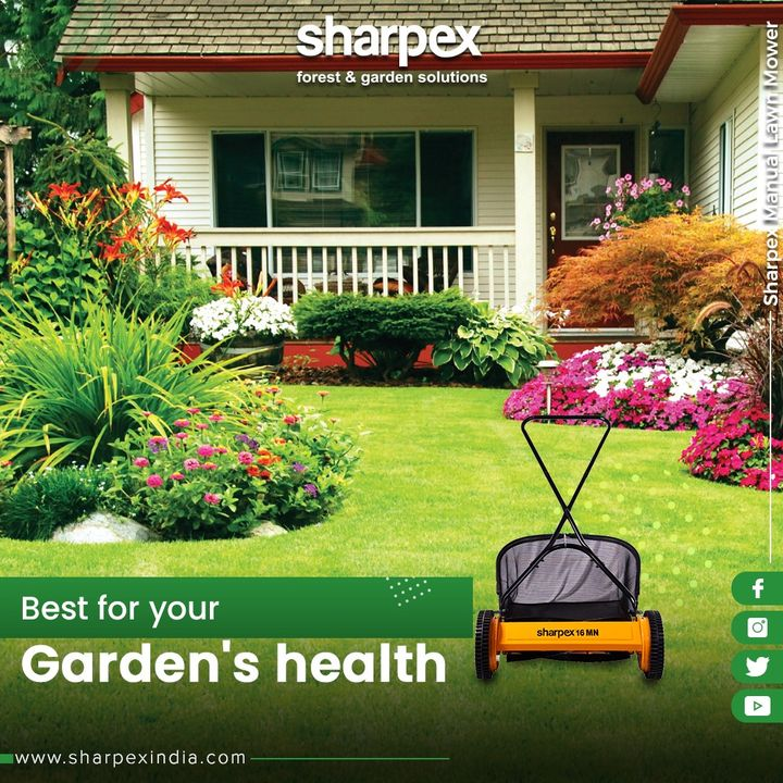 From weed control to insect control and everything in between; Manual Lawn Mower is designed to improve the health of your garden!  #SharpexIndia #GardeningTools #ModernGardeningTools #GardeningProducts #GardenProduct #Sharpex