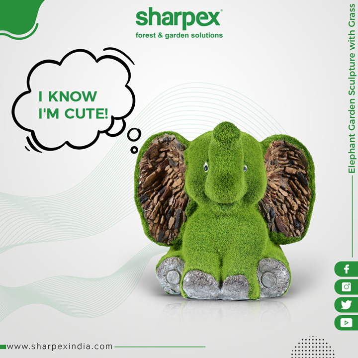 Let your guests compliment your garden too!  Deck up your garden with this cute & lively garden sculpture!   #SharpexIndia #GardeningTools #ModernGardeningTools #GardeningProducts #GardenProduct #Sharpex
