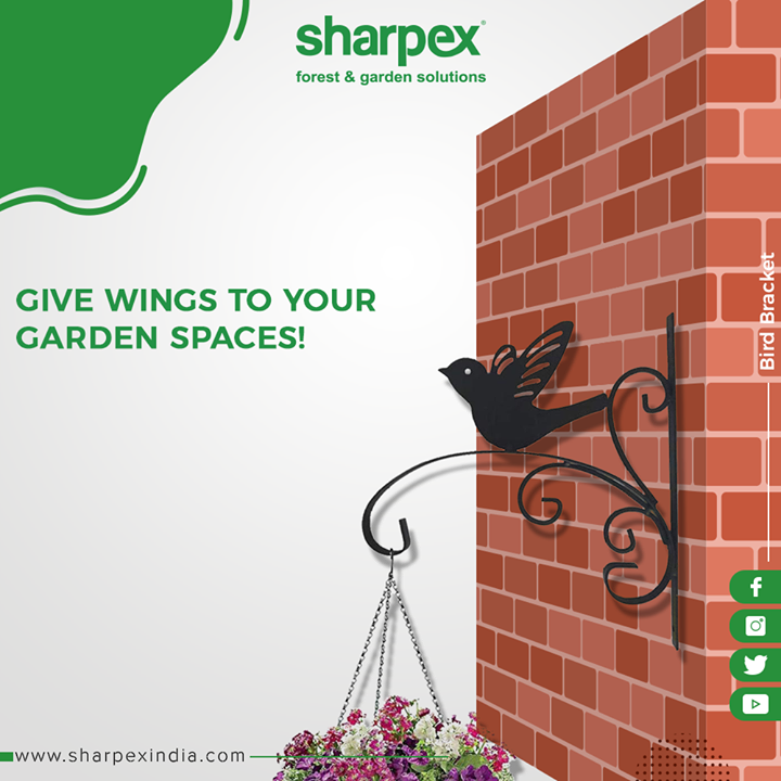 Give wings to your gardening space with our Bird Bracket!   #GardeningTools #ModernGardeningTools #GardeningProducts #GardenProduct #Sharpex #SharpexIndia