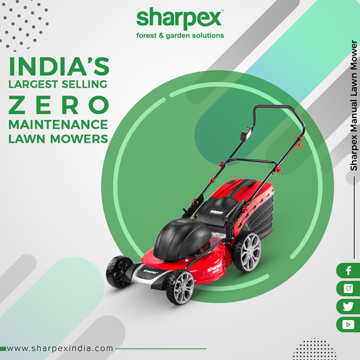 Enhance your lawn spaces with our highly vigorous Electric Lawn Mower!   #GardeningTools #ModernGardeningTools #GardeningProducts #GardenProduct #Sharpex #SharpexIndia