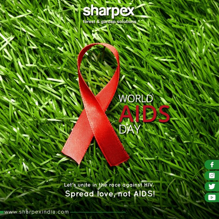 Let's unite in the race against HIV. Spread love, not AIDS!  #WorldAIDSDay #AIDSDay #AIDSDay2019 #WorldAIDSDay2019 #GardeningTools #ModernGardeningTools #GardeningProducts #GardenProduct #Sharpex #SharpexIndia