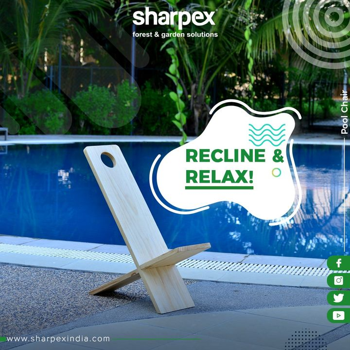 Stylishly carved Pool Chair for all your pool outings!  #GardeningTools #ModernGardeningTools #GardeningProducts #GardenProduct #Sharpex #SharpexIndia
