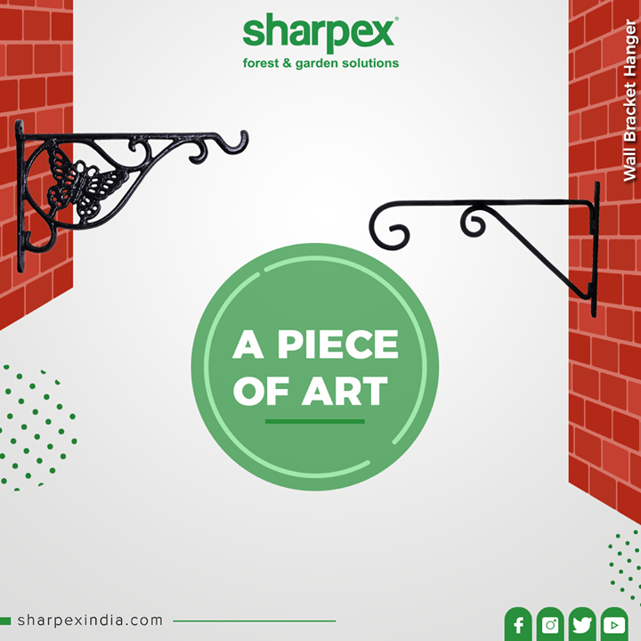 You can mount it on wall, deck, and fence, door for indoor or outdoor events in living room, garden, garage or balcony.  #Bracket #GardeningTools #ModernGardeningTools #GardeningProducts #GardenProduct #Sharpex #SharpexIndia
