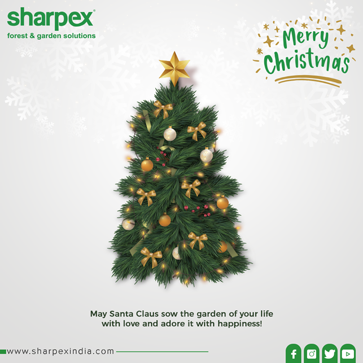 May Santa Claus sow the garden of your life with love and adore it with happiness!  #Christmas #MerryChristmas #Christmas2019 #Festival #Cheers #Joy #Happiness #GardeningTools #ModernGardeningTools #GardeningProducts #GardenProduct #Sharpex #SharpexIndia