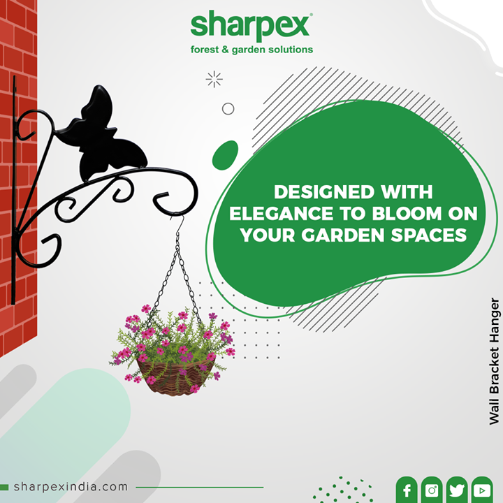 Perfect for hanging your flower pots, planters, bird feeders, wind chimes, lanterns, and more. Adding elegance and brightening up to your home, garden or yard.  #Bracket #GardeningTools #ModernGardeningTools #GardeningProducts #GardenProduct #Sharpex #SharpexIndia