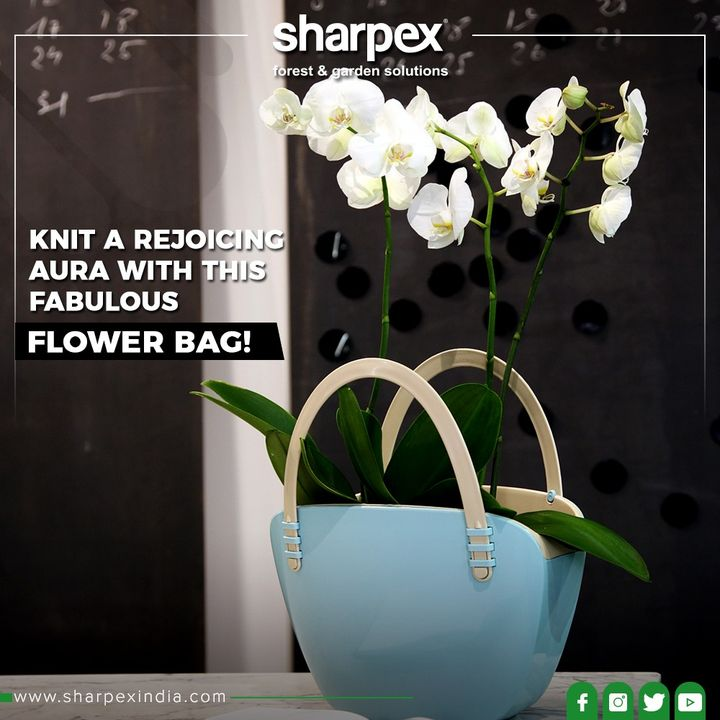 Inhale positive vibes & create a rejoiceful aura with this cute Flower Bag!  #GardeningTools #ModernGardeningTools #GardeningProducts #GardenProduct #Sharpex #SharpexIndia