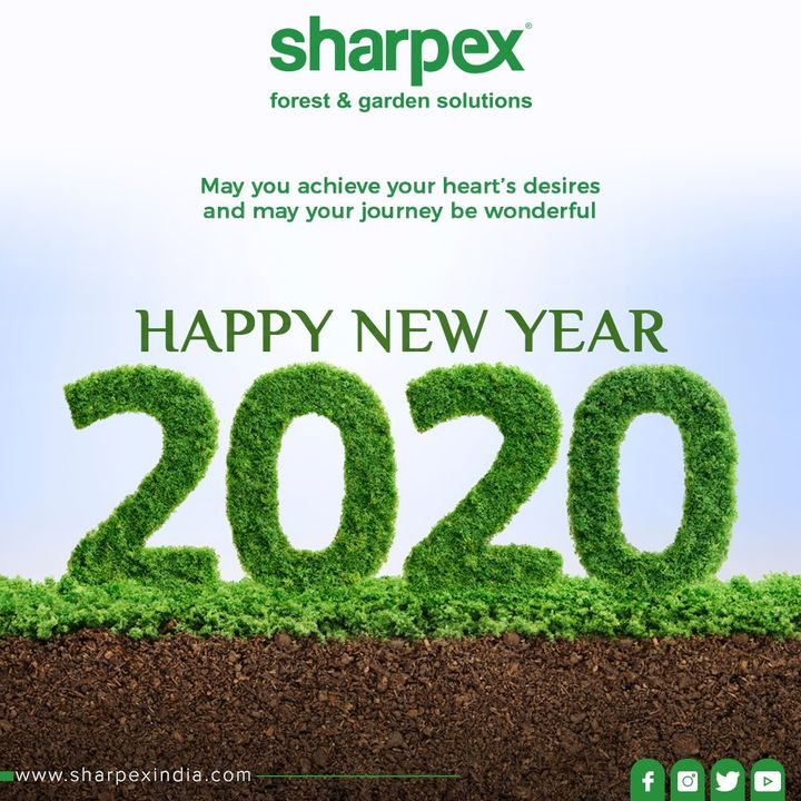 May you achieve your heart's desires and may your journey be wonderful. Happy New Year!  #NewYear2020 #HappyNewYear #NewYear #Happiness #Joy #2k20 #Celebration #GardeningTools #ModernGardeningTools #GardeningProducts #GardenProduct #Sharpex #SharpexIndia