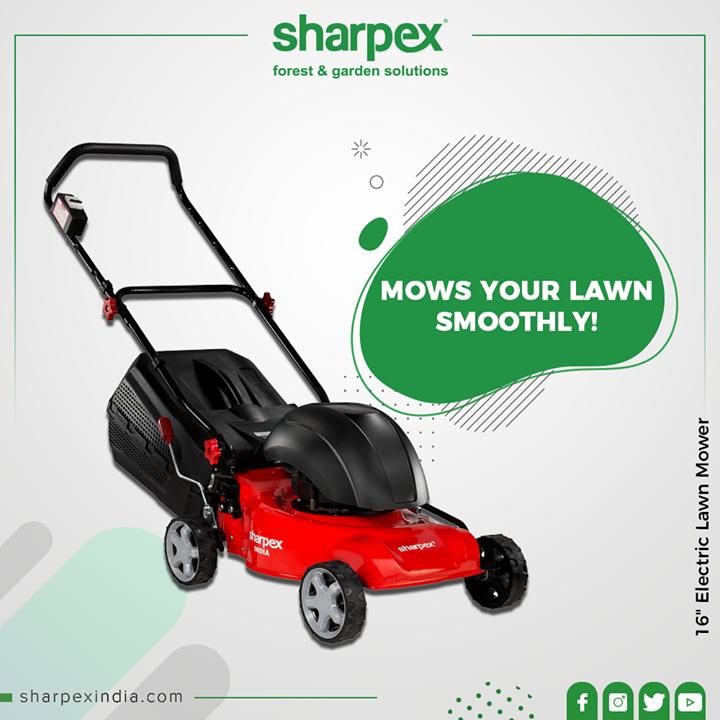 Sharpex Engineering,  LawnMower, ElectricalLawnMower, Mower, Gardenspaces, Greengarden, Gardening, GardenLovers, Passionforgardening, Garden, GorgeousGreens, GardeningTools, ModernGardeningTools, GardeningProducts, GardenProduct, Sharpex, SharpexIndia