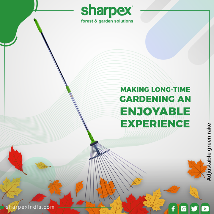 This ideal garden rake easily rakes up clippings, leaves and loose lawn and garden debris without damaging plants. Adjust garden rake width to 7
