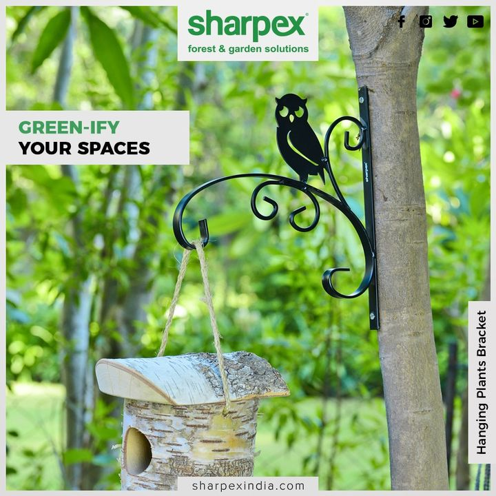Green-ify your spaces with our all-rounder hanging brackets!  #Gardenspaces #Greengarden #Gardening #GardenLovers #Passionforgardening #Garden #GorgeousGreens #GardeningTools #ModernGardeningTools #GardeningProducts #GardenProduct #Sharpex #SharpexIndia