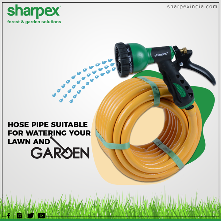 Sharpex Pipe is lighter than traditional garden hoses making them easier to carry, lift and maneuver around the yard. Extreme all-weather flexibility makes it easy to maneuver around trees, bushes or other obstacles. Constructed using a double-braided technique for maximum abrasion resistance and tensile strength.  #HappyGardening #GardeningTools #ModernGardeningTools #GardeningProducts #GardenProduct #Sharpex #SharpexIndian