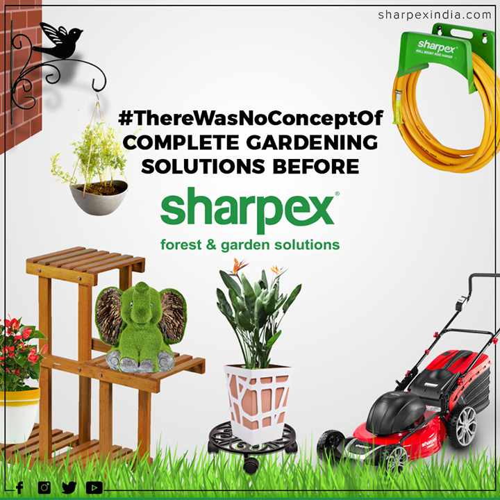 Now you can make your lawn looking professionally manicured with Lawn Mower from Sharpex  #ThereWasNoConceptOf #Trendingformat #HappyGardening #GardeningTools #ModernGardeningTools #GardeningProducts #GardenProduct #Sharpex #SharpexIndian