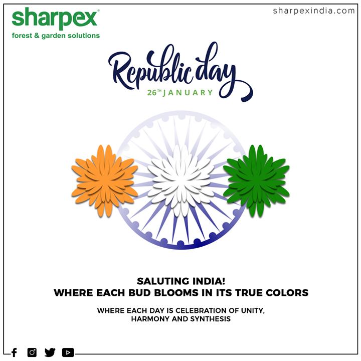 Sharpex Engineering,  HappyRepublicDay, RepublicDay, 26thJanuary, IndianRepublicDay, ProudToBeIndian, GardeningTools, ModernGardeningTools, GardeningProducts, GardenProduct, Sharpex, SharpexIndia