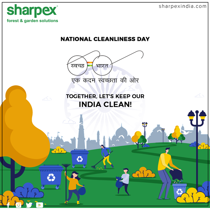 Together, lett's keep our India clean!  #NationalCleanlinessDay #CleanIndia #GardeningTools #ModernGardeningTools #GardeningProducts #GardenProduct #Sharpex #SharpexIndia