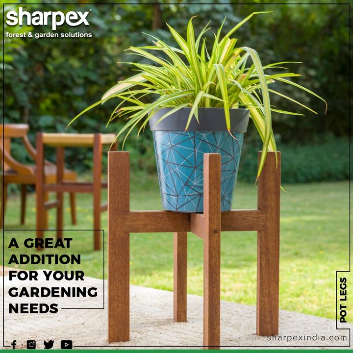 Perfect size for corner plant pots, balcony flower pot stand, planter saucers or holders. The indoor pot plant stands for the living room is perfect for elevating big and medium pots just a few inches above the ground.  #GardeningTools #ModernGardeningTools #GardeningProducts #GardenProduct #Sharpex #SharpexIndia