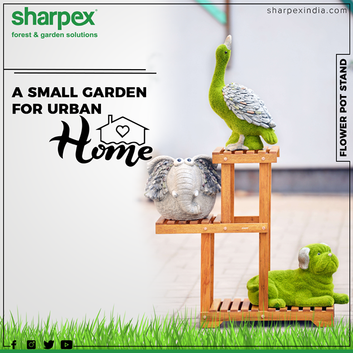 A small garden for urban homes.  #GardeningTools #ModernGardeningTools #GardeningProducts #GardenProduct #Sharpex #SharpexIndia