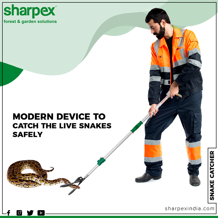 Snakes in your garden can be life threatening. Here's an innovative tool which will help you get rid of deadly snakes from your garden.  #GardeningTools #ModernGardeningTools #GardeningProducts #GardenProduct #Sharpex #SharpexIndia