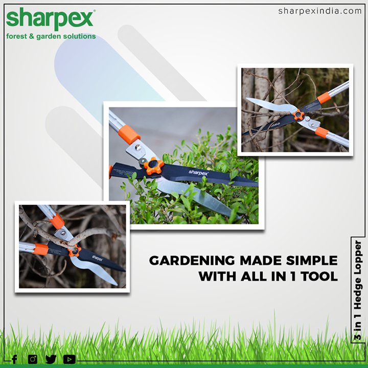 You will be able to achieve professional-quality when using this hedge shear.  #GardeningTools #ModernGardeningTools #GardeningProducts #GardenProduct #Sharpex #SharpexIndia
