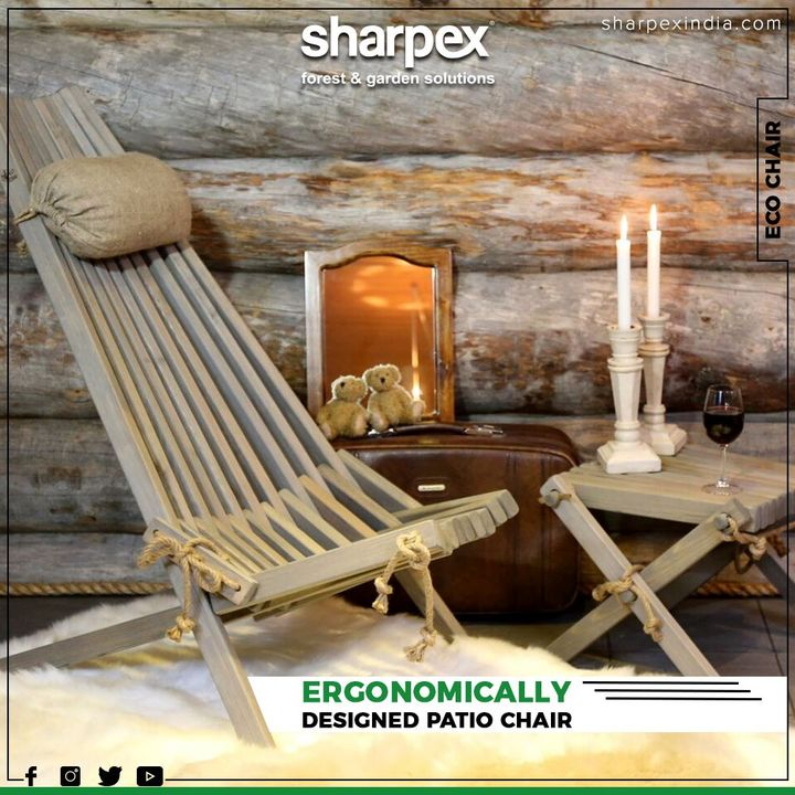 Chair that ensures optimal comfort and relaxation. It can also be used as a patio chair, garden chair, lawn chair.  #Chair #GardeningTools #ModernGardeningTools #GardeningProducts #GardenProduct #Sharpex #SharpexIndia