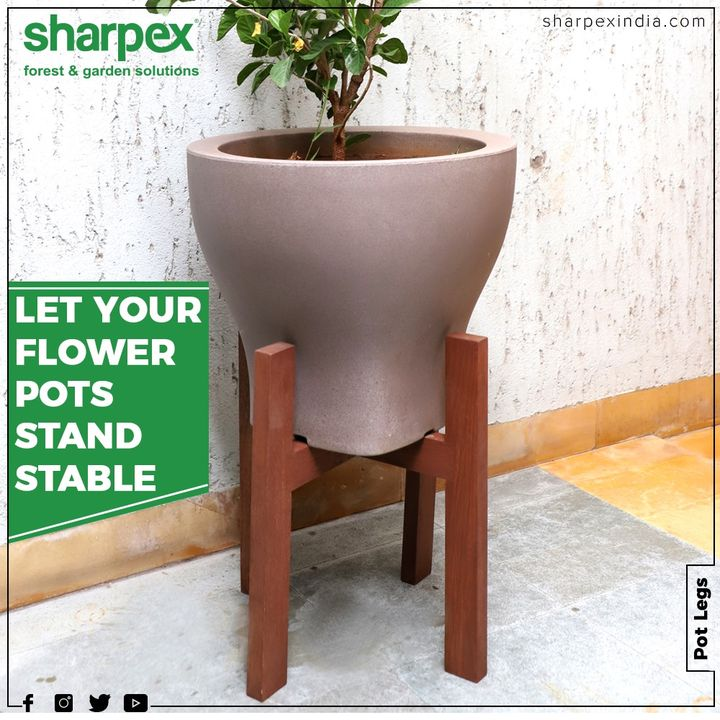 Sharpex Pot Legs provides height to your flower pots and a great way of utilizing your open space indoor or outdoor.  #Gardenspaces #Greengarden #Gardening #GardenLovers #Passionforgardening #Garden #GorgeousGreens #GardeningTools #ModernGardeningTools #GardeningProducts #GardenProduct #Sharpex #SharpexIndia