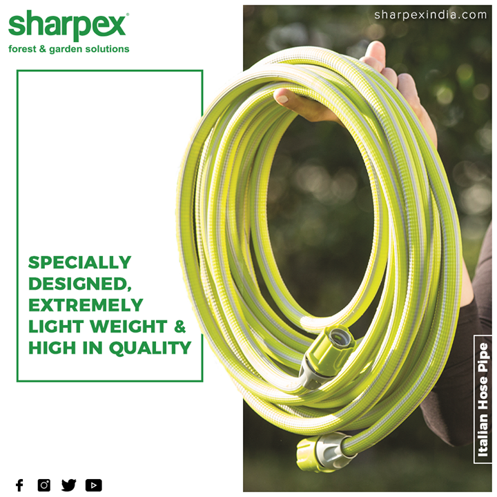 It's lighter than traditional garden hoses making them easier to carry, lift and maneuver around the yard.  #GardeningTools #ModernGardeningTools #GardeningProducts #GardenProduct #Sharpex #SharpexIndia