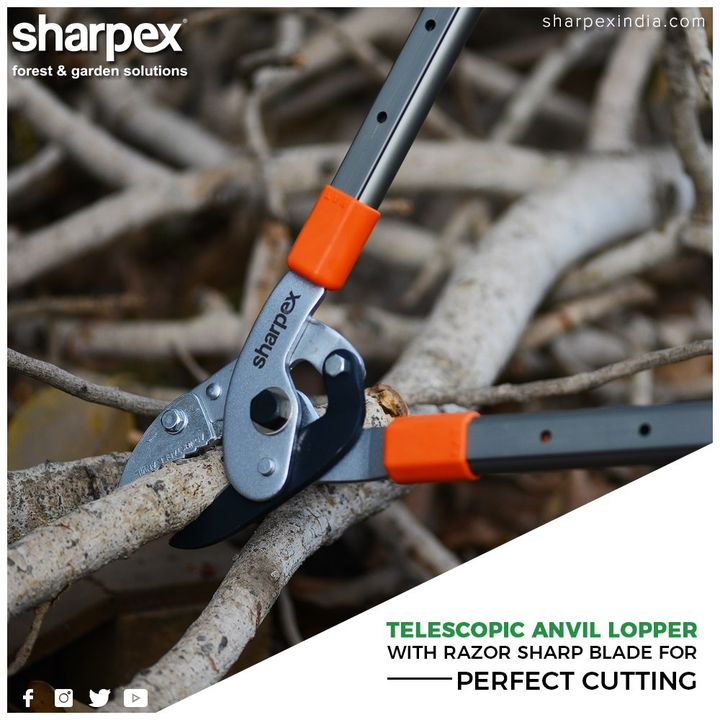 Telescopic anvil lopper is the best option for you to achieve professional quality in trimming and maintenance of your garden.  #GardeningTools #ModernGardeningTools #GardeningProducts #GardenProduct #Sharpex #SharpexIndia
