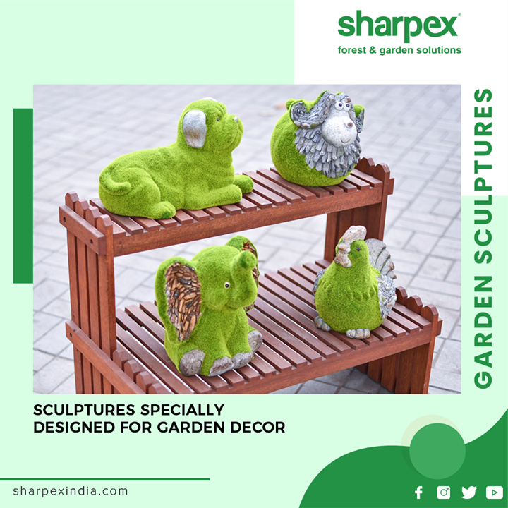 Nothing brings charm and sweetness to your garden than beautiful sculptures from Sharpex.  #BeatifulSculptures #Sculptures #GardeningTools #ModernGardeningTools #GardeningProducts #GardenProduct #Sharpex #SharpexIndia